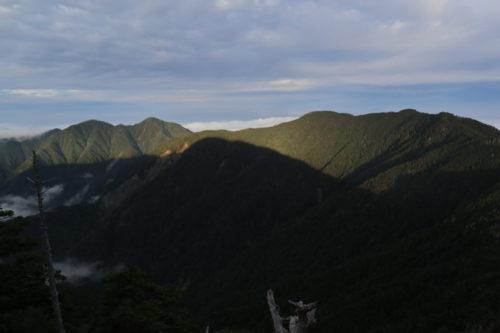 池口岳と加加森山