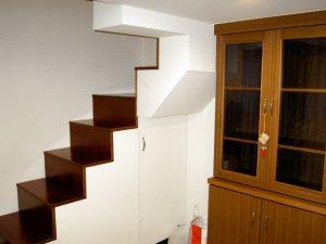 木工裝潢-夾層木作樓梯