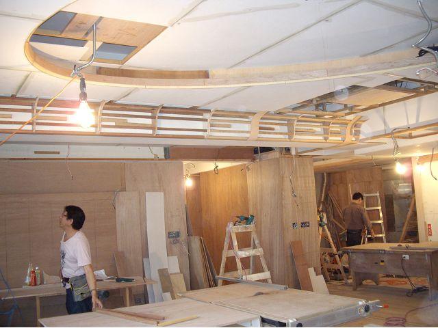 木工裝潢-橢圓形天花板施工