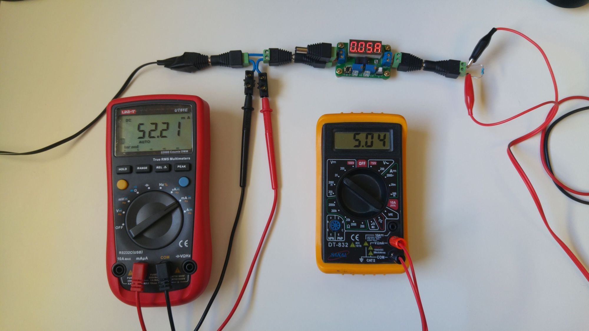 hight resolution of measuring current with dummy load