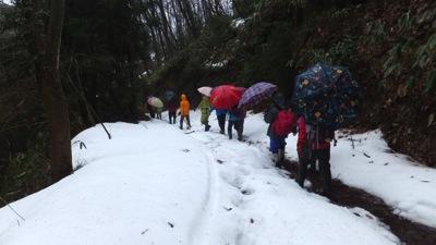 2コナラ広場山側は雪あり