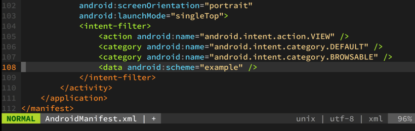 Android intent-filter