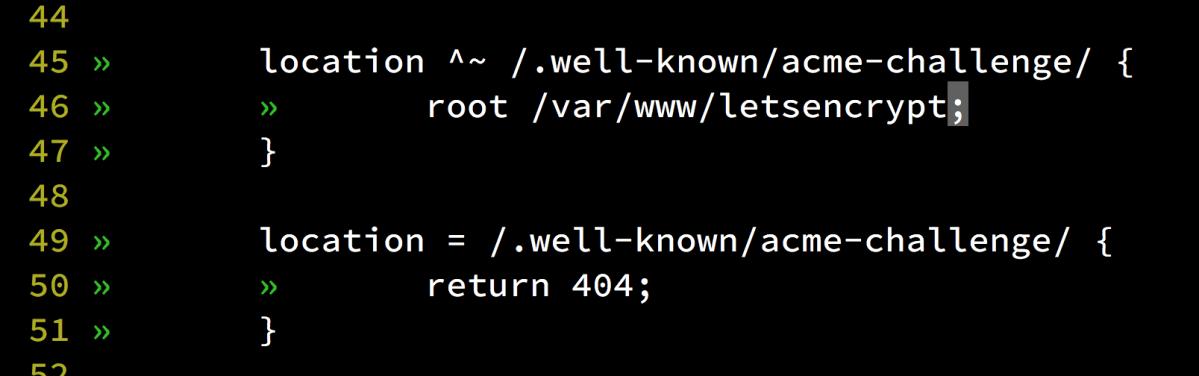 Let's Encrypt で証明書を発行して運用するための nginx の設定