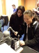 Testing out the new technology at the Haptics Symposium