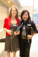 Associate Director, Annual Fund, Fiona Beaty, and Lisa Tsai, YHS Parents' Association President.