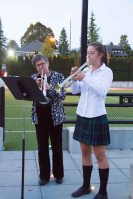 Junior School Music Teacher Dawn Haylett and Gr. 11 Student, Fiona