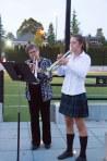 Junior School Music Teacher Dawn Haylett and Gr. 11 Student, Fiona