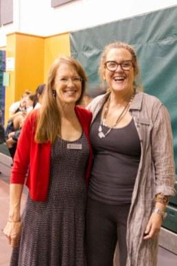 Associate Director, Annual Fund, Fiona Beaty and Parent Volunteer, Gillian Smith.