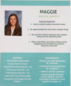 Candidate Poster - Maggie, Head Girl