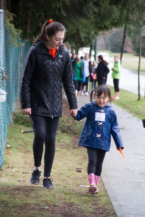 """Walking with her """"buddy"""" for Walk in Her Shoes (International Women's Day)"""