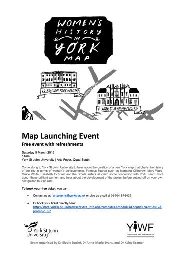 Map Launching Event - advert materials