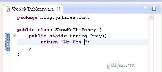 撰寫java code