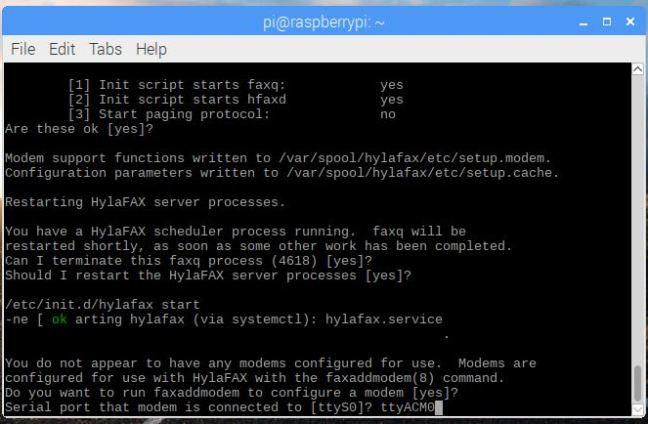raspberry pi安裝Fax Server-HylaFAX | 聰明的生活