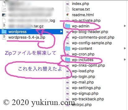 Wordpress更新したらerrorが出た時に差し替えたフォルダ時