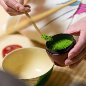 Preparing matcha for the tea ceremony