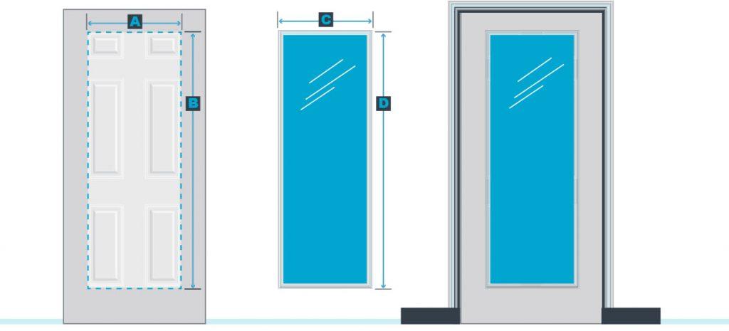 24 x 66 door glass inserts for