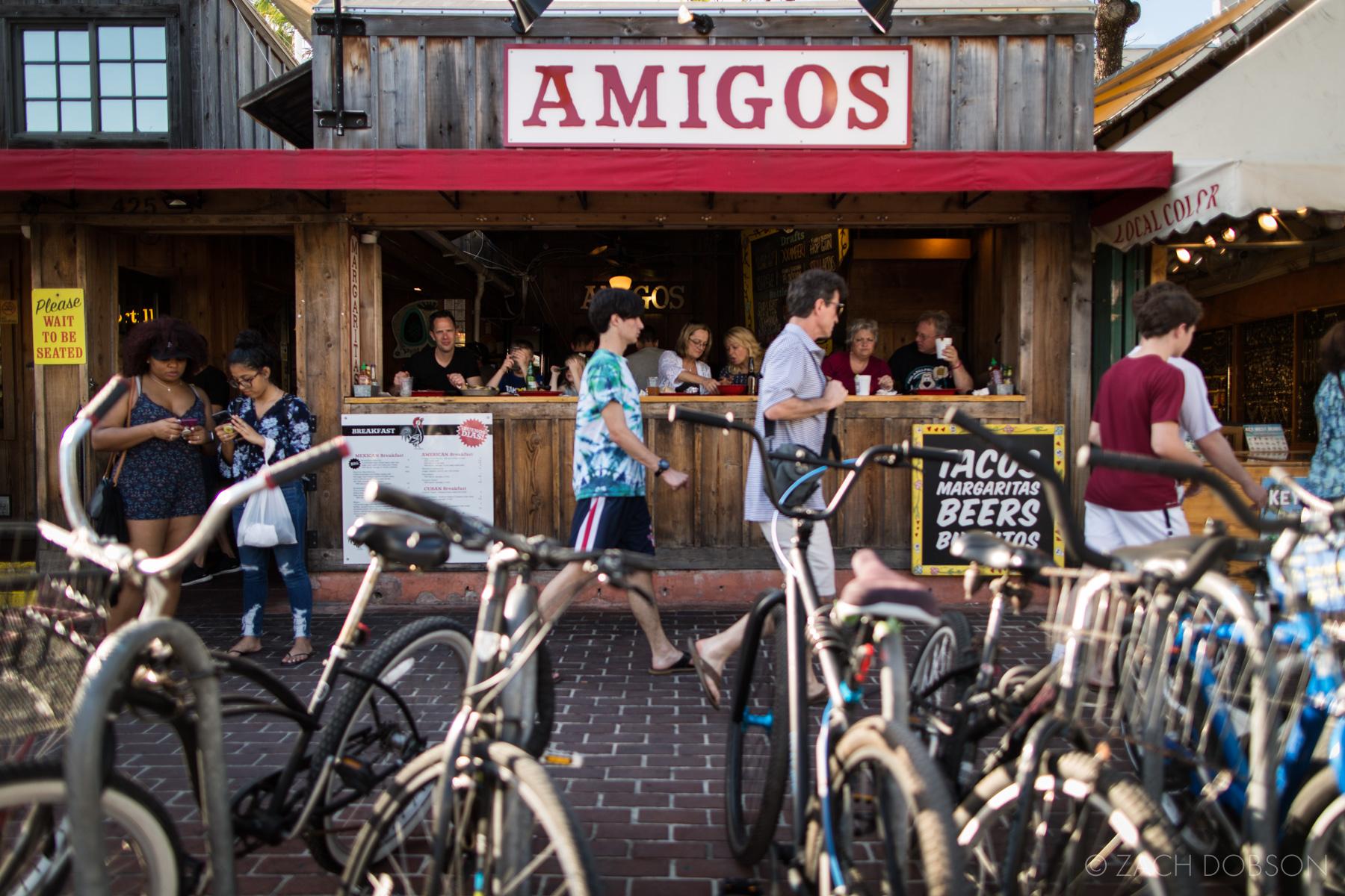 Amigos Restaurant. Old Town Key West, Florida Keys.
