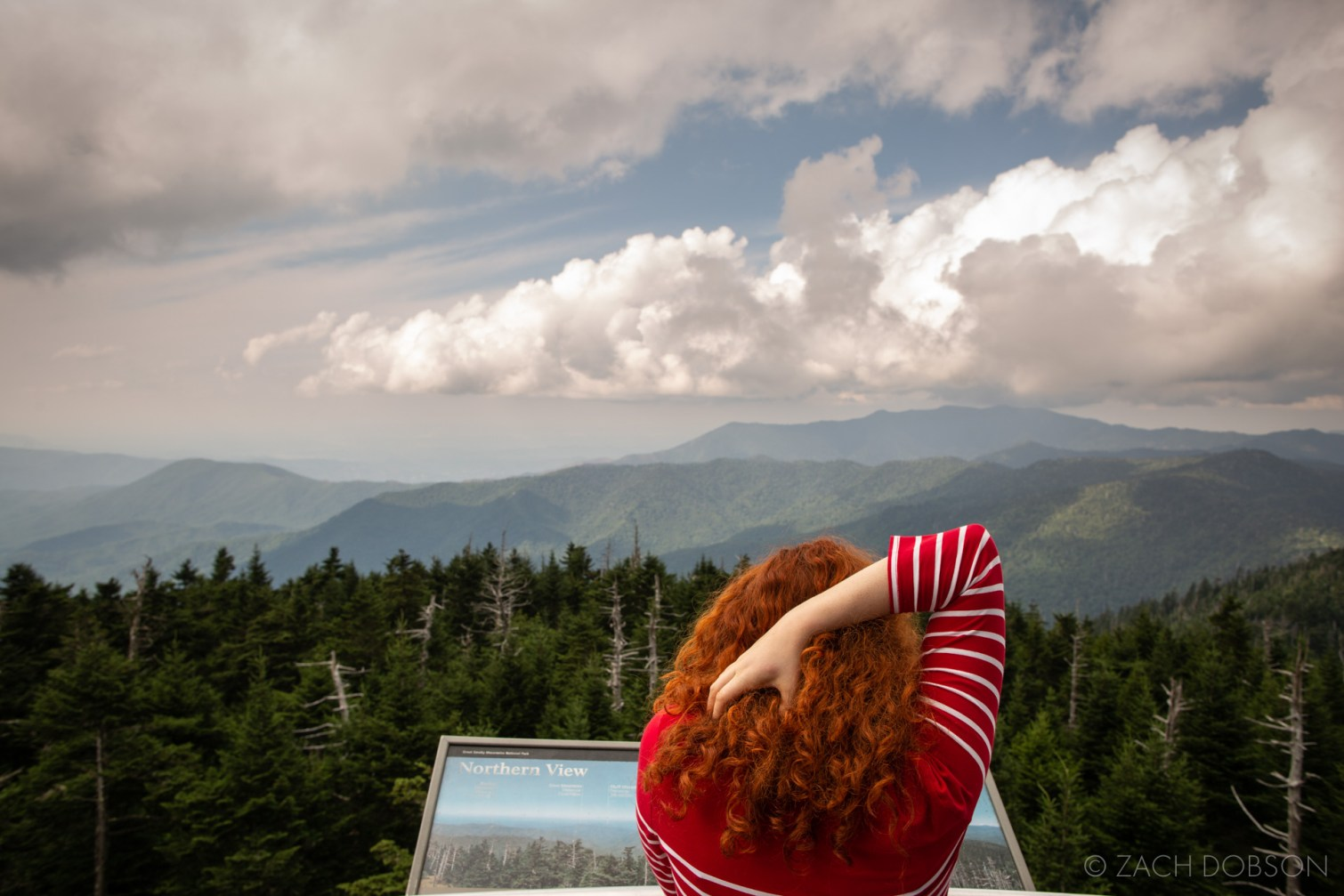 Great Smoky Mountains red white blue green