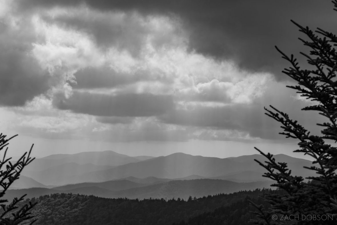 Great Smoky Mountains sun rays