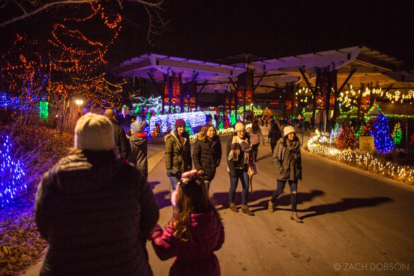 Santa's Village at Christmas at the Zoo in Indianapolis, Indiana.