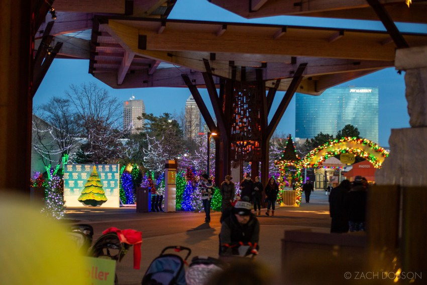Santa's Village at Christmas at the Zoo in Indianapolis, Indiana.