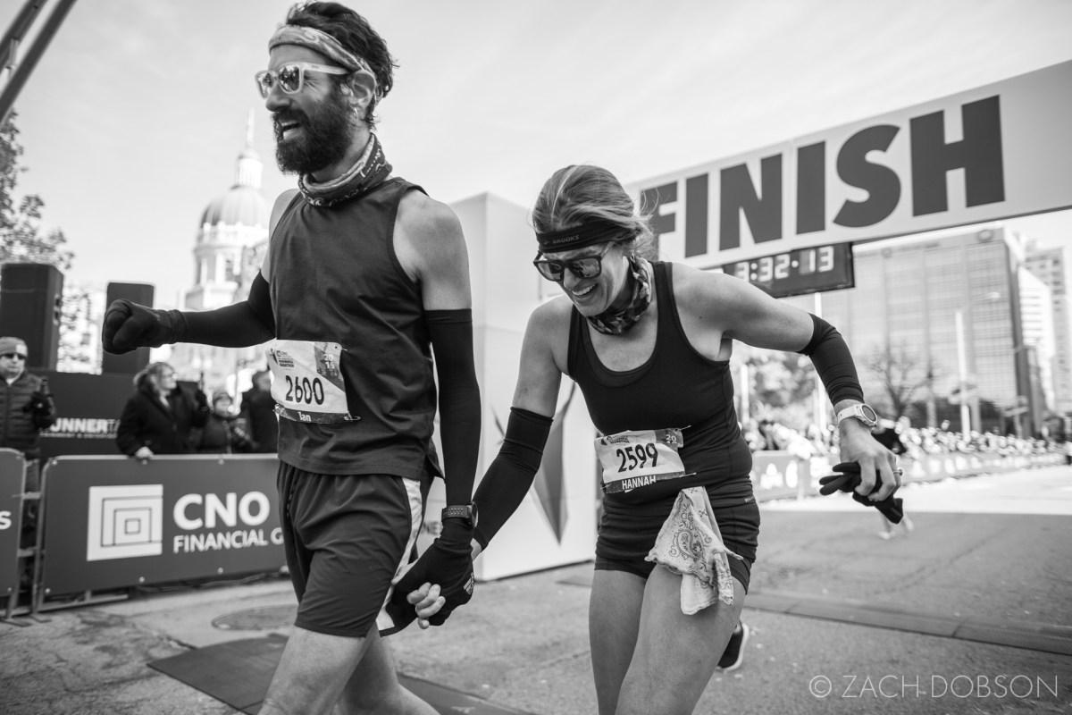 Indianapolis Monumental Marathon, 2019. finish