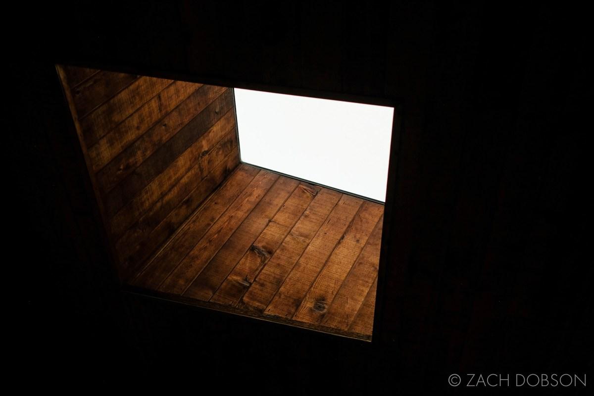 skylight on porch in winter