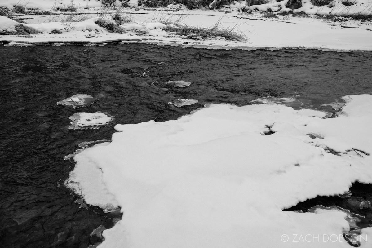 frozen creek winter midwest indiana