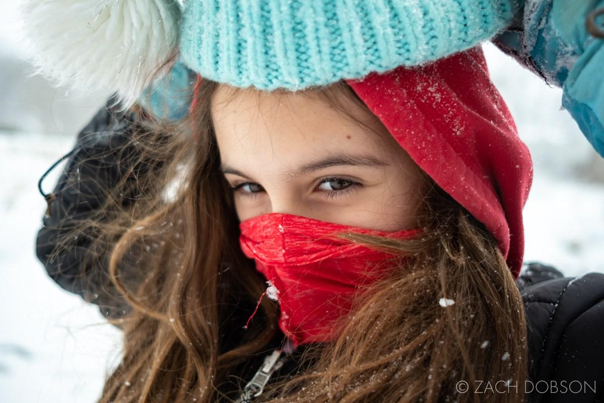 snow photography portrait