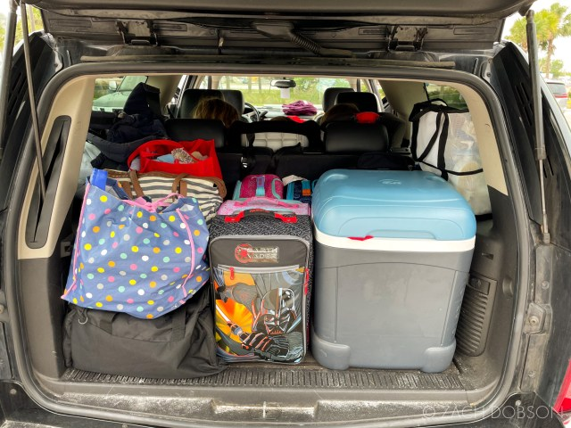 travel with kids - dad's packing