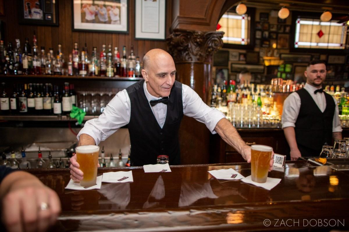 st elmo steakhouse indianapolis indiana punch magazine bartender serving beer