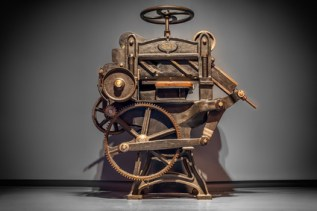 Antique printing press