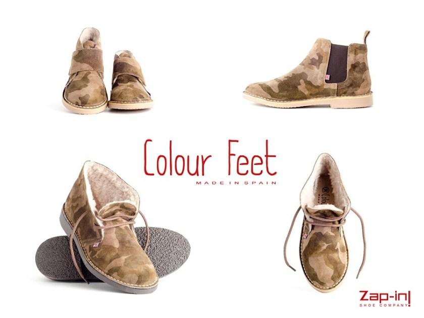 Botín de camuflaje Colour Feet para toda la familia.