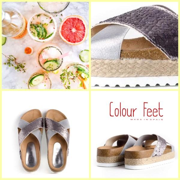 Sandalias bio con lentejuelas Colour Feet