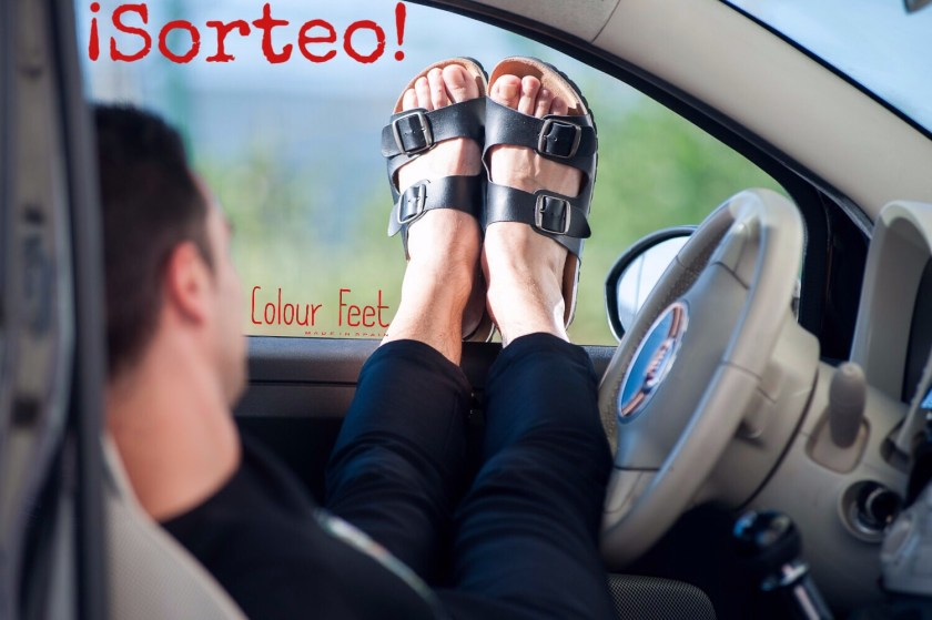 Sorteo sandalias Colour Feet para dar las gracias.