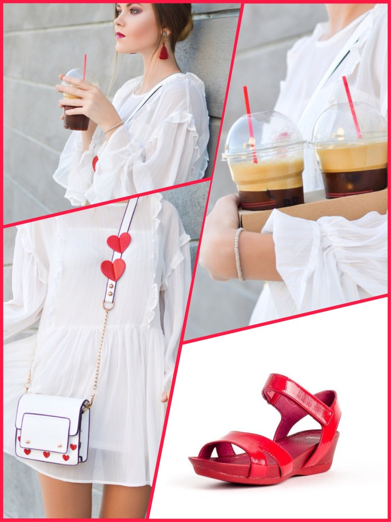 Sandalias Camper K200116-018 para mujer en color rojo