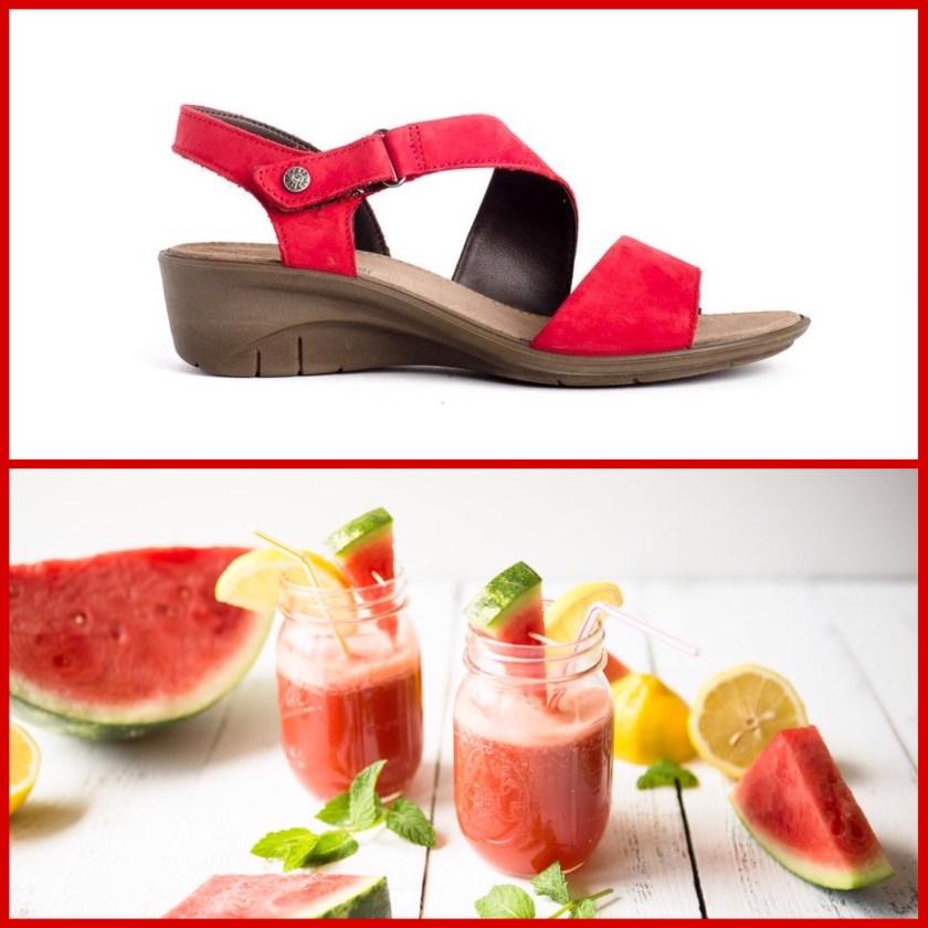 Sandalias Imac 109182 en color rojo para mujer