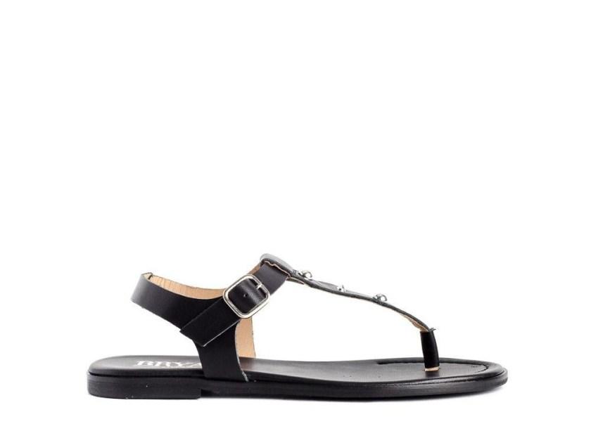 sandalias planas negras de mujer cómodas y baratas