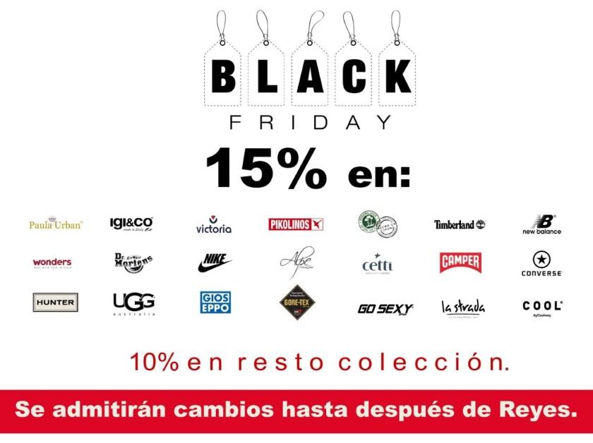 15% en marcas seleccionadas #BlackFriday 2018 en Zap-in!