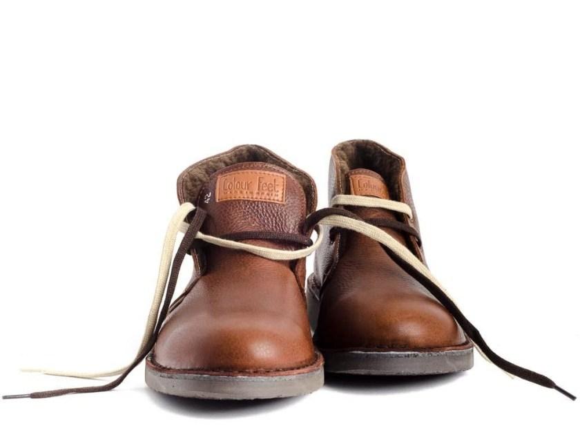 pisamierdas marrones con borreguito para hombre Colour Feet MOGAMBO WARM