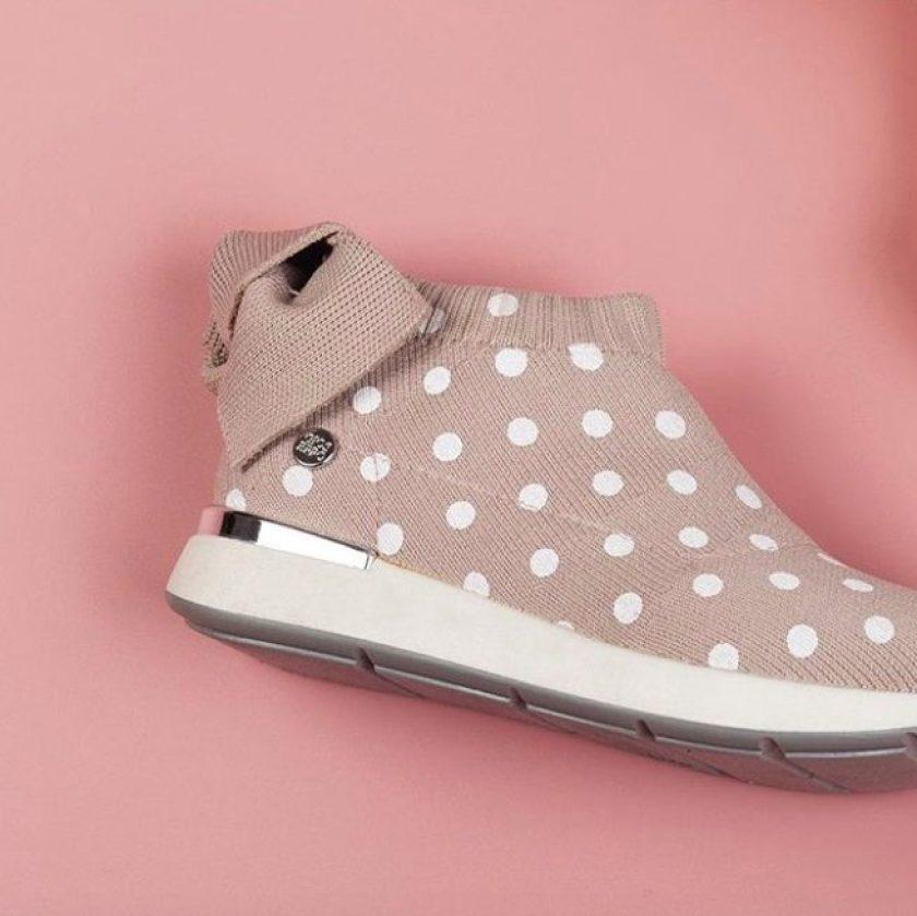 Zapatillas de media caña paa niña con lunares Gioseppo AGIOS 47396