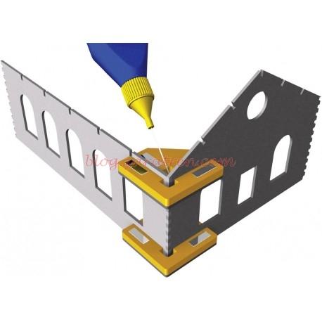 Soportes angulares imantados para pegado de edificios, Marca Proses.