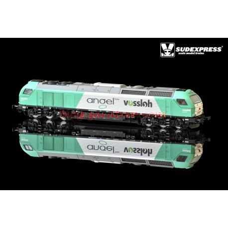 Sudexpress - Locomotora Euro4000, versión Angel Trains, ALTERNA, Ref: SUA400112DC, con conector NEM de 21 pines, escala H0.
