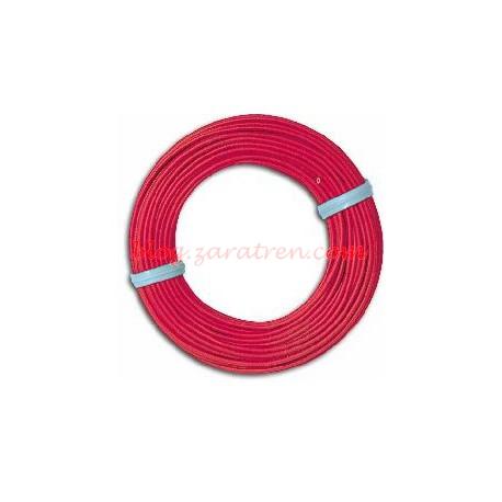Busch - Bolsa de cable unipolar Rojo para instalaciones interiores de maquetas, 0,14 mm, 10 metros. Muy maleable y fino, Ref: 1790.