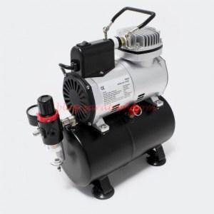 Ociomodell - Mini Compresor Airbrush. Con tanque de aire y reductor de presión para aerografía . Ref: AF186.