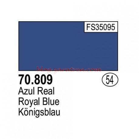 Vallejo - Acrílico Model Color, Azul real, ( 054 ). Bote 17 ml, con cuentagotas. Especialmente diseñado para pincel. . Ref: 70.809.