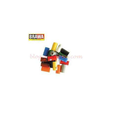 Brawa - Clavijas aéreas hembra, de color Blanco, diámetro 2,5 mm, válido para todas las escalas, Ref: 3049.
