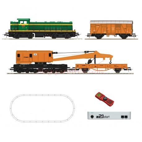 Roco - Set de iniciación Locomotora Diesel 307, RENFE, con tren de Gran Intervención, vías Geoline, Digital, con central Z21 y mando Roco., Ref: 51305.