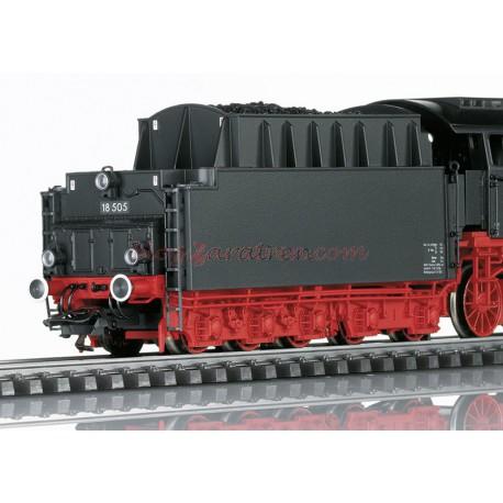 Trix - Locomotora de vapor de Expreso BR 18 505, DB, (Color Negro), época III, Digital con Sonido y Fumígeno, luces blancas según sentido de marcha, Escala H0, Ref: 22884. SERIE LIMITADA.