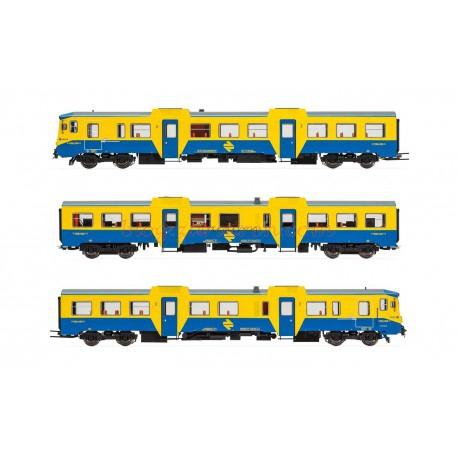 Electrotren - Automotor Diésel 592, Versión Azul/Amarillo, RENFE, Analógico. Conector de 21 pines, Época IV-V, Escala H0. Ref: E3421